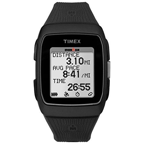 Timex Ironman GPS-Armbanduhr aus Silikon, Unisex-Erwachsene, Ironman, schwarz, Einheitsgröße
