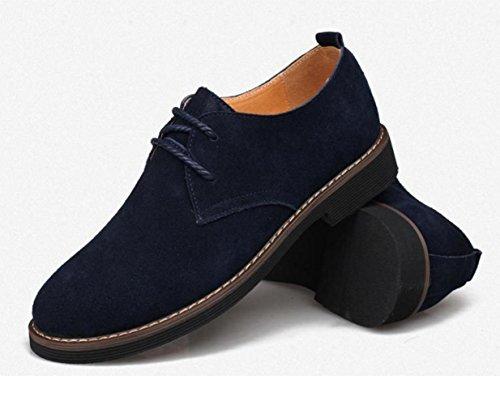 WZG Automne chaussures sport, chaussures en cuir pour hommes hommes britanniques chaussures en daim chaussures d'affaires décontractée 9.5 Blue