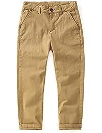 KID1234 Jungen Hose Chino Hose Slim Trousers Verstellbarer Taille  Baumwollhose Pants für… 5c41a4be9e