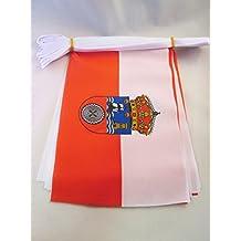 AZ FLAG Guirnalda 6 Metros 20 Banderas de CANTABRIA 21x15cm - Bandera CÁNTABRA – CANTÁBRICA 15