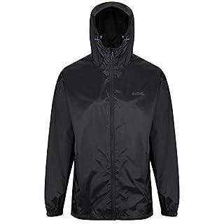 Regatta Men's Pack It III Waterproof Shell Jacket, Black, 2X-Large