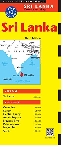 Sri Lanka Travel Map Third Edition (Periplus Travel Maps) (Periplus Travel Maps: Country Map)
