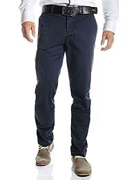 Tommy Hilfiger - Pantalon chino bleu marine coupe droite