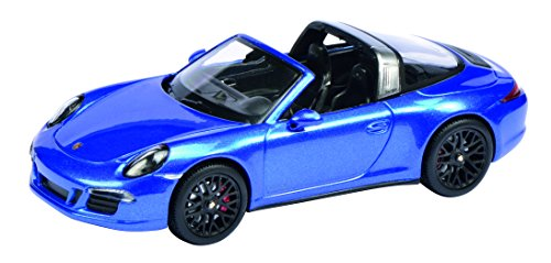 Schuco 450759600 - Porsche 911 Targa 1:43, Saphir blau metallic
