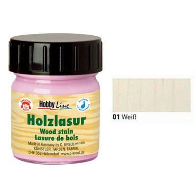 Hobby Line Holz Lasurfarbe 50ml Weiss [Spielzeug]