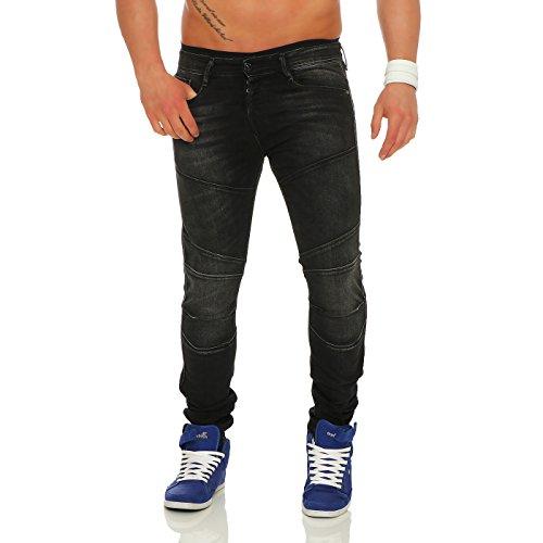 Jack & Jones Herren Jeans / Slim Fit Jeans jjiGlenn jjJax Schwarz