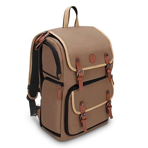 GOgroove Kamera Rucksack für Spiegelreflexkameras: DSLR Backpack ideal für Reisen, ausreichend Platz für Kamera & Zubehör, sowie Laptop und...