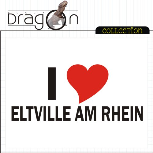 T-Shirt mit Städtenamen - i Love Eltville - Herren - unisex Weiß