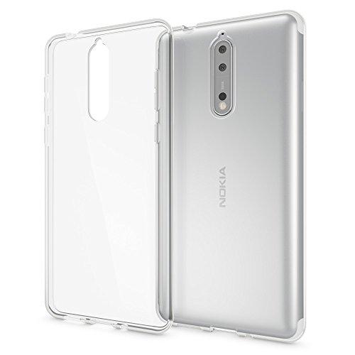NALIA Handyhülle kompatibel mit Nokia 8, Ultra-Slim TPU Silikon Case Cover Crystal Clear Schutzhülle Dünn Durchsichtig, Etui Hülle Handy-Tasche Backcover Transparent, Smartphone Schutz Bumper