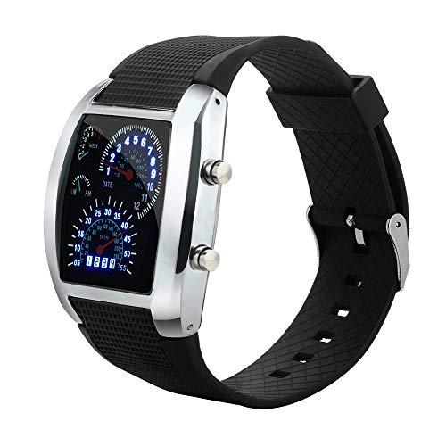 Just descriptif:Just feel The Need for Speed avec cette montre de sport à LED numérique de haute qualité. Cette fois-ci, pièce va de zéro à soixante en une heure, ce qui garantit que vous serez juste à temps pour chaque pause dans votre journée au r...