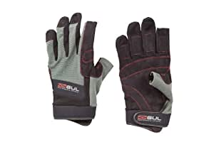 Gul Summer Three Finger Glove - Black/Charcoal, Small