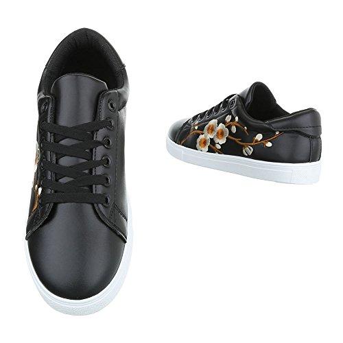 Damen Freizeitschuhe Schuhe Sportschuhe Turnschuhe Sneaker Laufschuhe Schwarz 36 37 38 39 40 41 Schwarz