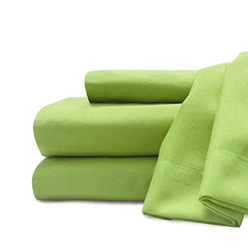 Baltischer Leinen Company 0369018420Weich und Cozy Easy Care Deluxe Mikrofaser Spannbetttuch-Sets, Königin, lime
