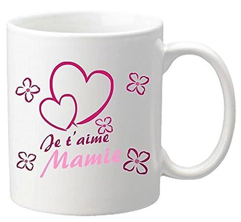 Mug Je t'aime Mamie – Cadeau pour la fête des