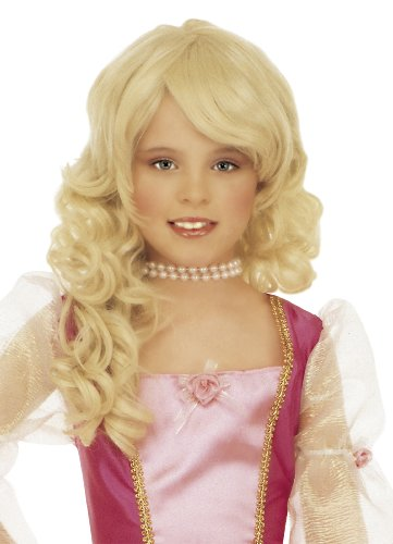 ne Prinzessin Langhaar-Perücke für Kinder Blond Einheitsgröße (Kleines Mädchen Perücken)