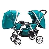 Dwhui Twin Baby Falt Wagen Geeignet Für Doppel-und Einzel Spaziergänge, Geldbörsen, Windeln, Bücher, Spielzeug, Zusätzlicher Stauraum Für Perfekte Babys