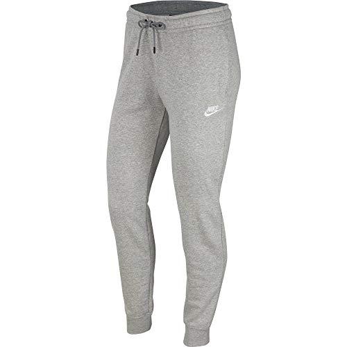 Nike Womens W NSW Essntl Pant Reg FLC Sweatpants, Dark Grey Heather/White, S