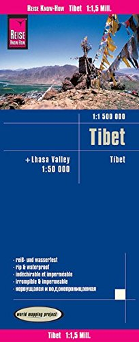 Reise Know-How Landkarte Tibet (1:1.500.000) und Lhasa-Valley (1:50.000): world mapping project