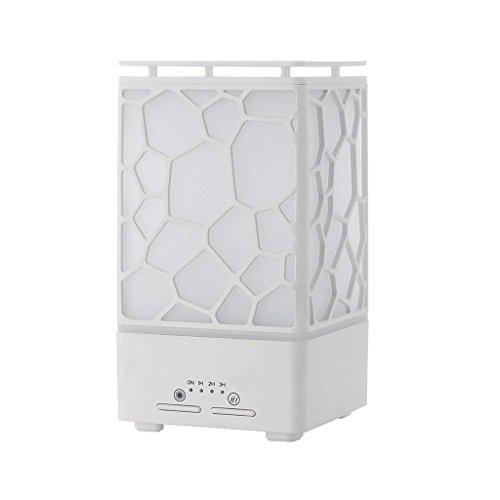 Qi Tai Humidificador de Aire del hogar Pequeño Mini humidificador de Aire - 200ml Difusor de Aroma ultrasónico - 7 Luces cálidas de Colores Cambio automático sin Agua Cambio automático