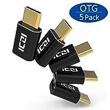 ICZI USB C auf Micro USB Adapter, Typ C Adapter auf Micro-USB mit OTG für ChromeBook Pixel, Nexus 5X / 6P, Huawei P10/P20/Mate20 / Honor 8, LG G5 / G6 (5 Pack)