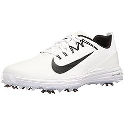 Nike Lunar Command 2, Zapatos de Golf para Hombre, Blanco Black-White 100, 44 EU