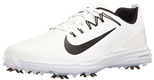 best loved 4d8bc 391d2 Nike Lunar Command 2, Zapatos de Golf para Hombre, Blanco Black-White 100