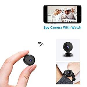 camaras de seguridad hogar: Cámara Espía Oculta AOBO 1080P HD Mini WiFi Cámara Portátil Interior/Hogar Cámar...