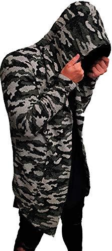 Camouflage Oversize Designer Sweat Jacke Cardigan Hoody Pullover Shirt Herren Hoodie Longsleeve m NEU Kapuzenpullover Long Sweatjacke Skater hip hop Sweatshirt Pulli Longshirt Body (XL, Camouflage⁵)