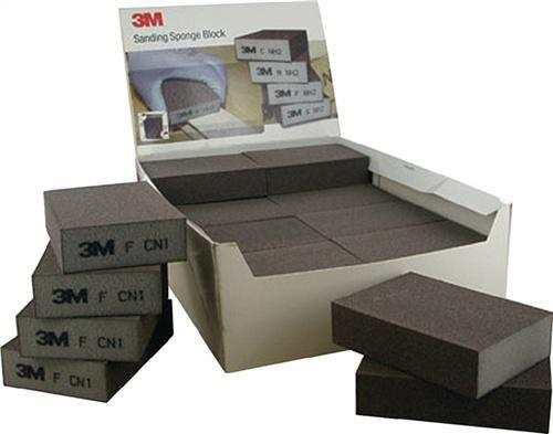 3M 63199 Schleifschwamm, 68 mm x 100 mm x 26 mm, Medium (24-er Pack)