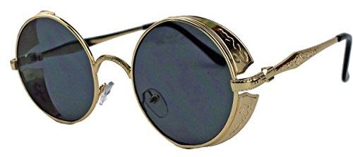 amashades Vintage Classics Runde Blogger Sonnenbrille oversized Damen Herren Nostalgie flat lens...