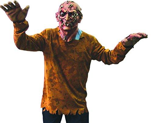 erdbeer-clown - Karnevals-Kostüm Set Zombie Pinman, One Size, Mehrfarbig