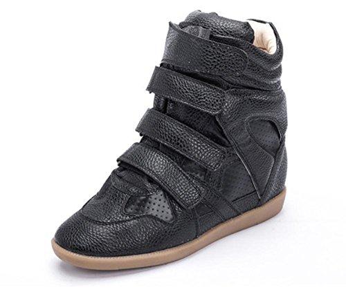 Sapatos Singles Respirável Superiores Preto Dos Cair Dentro Rodada Casuais De Sapatos qYwzIBEx