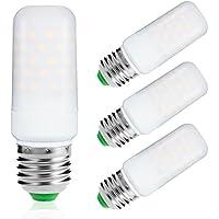 LOHAS ® 9Watt E27 LED Candela Bulbi, 80Watt Lampadina ad Incandescenza Equivalente, 1000Lm, Bianco Caldo 2700K, non Dimmerabile, Piccole Edison vite Candela Lampadine, 220-240V AC, Confezione da 3