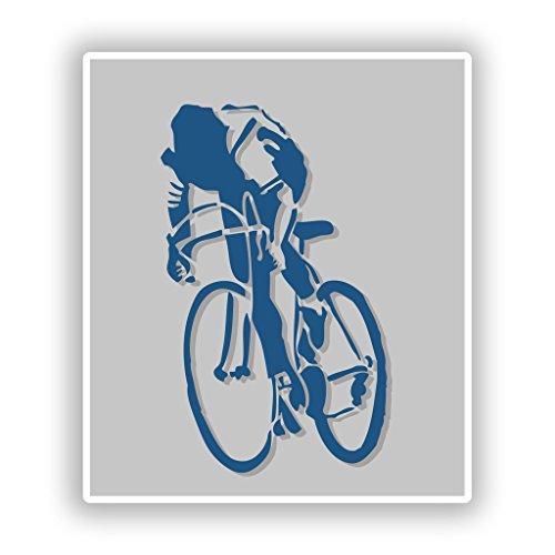 2x Bike Vinyl Aufkleber Reise Gepäck Mountain Bmx # 10208 - 10cm/100mm Wide