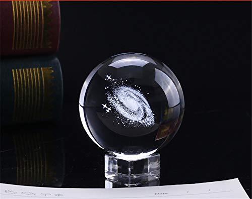 Zhaolian888 3D-Sonnensystem-Kristallkugel mit Ständer Transparenter Planet Galaxy Ball für Kinder Art Crystal Prop Kinderheim Wohnzimmer Schlafzimmer Büro Dekor
