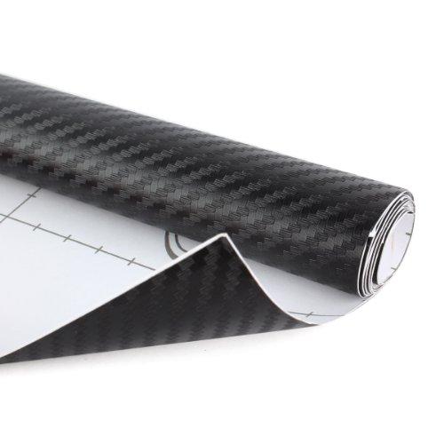 UNIQUEBELLA Rotolo di pellicola in fibra di carbonio flessibile 3D, per la decorazione fai da te di auto, moto, iPhone, iPad, ecc., 152 cm x 50 cm