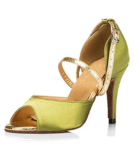 TDA - Peep-Toe donna , verde (8.5cm Heel Green), 38 EU