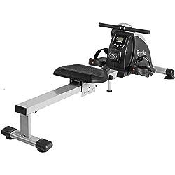 TecTake 401074 Máquina de Remo con Consola, Entrenamiento Fitness, Capacidad Máxima 100 kg