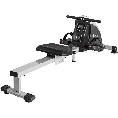 TecTake Rudergerät Ruderzugmaschine Fitnessgerät mit Trainingscomputer