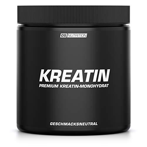 KREATIN Premium Kreatin-Monohydrat Pulver (Creapure) - OS NUTRITION geschmacksneutral 400g - made in Germany - Pump Pre-workout Creatin