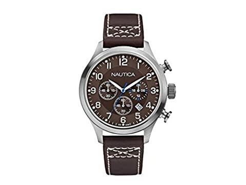 Nautica montre homme BFD 101 chronographe Classic Brown A14697G