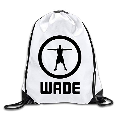 2a1d29a0e26a HLKPE BYDHX Dwyane Wade Logo 4 Drawstring Backpack Bag White