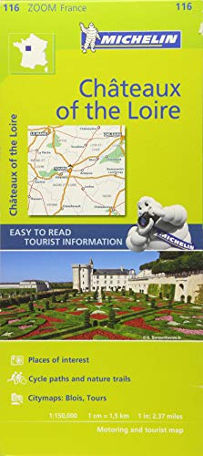 Chateaux of the Loire - Zoom Map 116: Map [Lingua inglese]