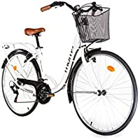 "Moma Bikes, Vélo de Ville City Classic 28"", Aluminium SHIMANO 18V"