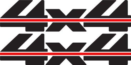 4x 4Aufkleber (schwarz)-1988bis 1997Chevy Stil (1997 Truck Chevy)