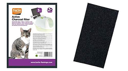 Cajou 18 Stück Aktiv Kohlefilter 20 x 15 cm zum Zuschneiden für Katzentoiletten
