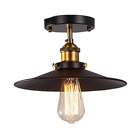 Modern Ceiling Light Industrial Retro Vintage style Lampshades Fit for Edison Flush Mounted Lamp Metal Pendant lamp , Ceiling