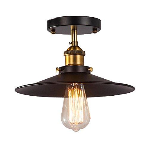 Moderne Deckenleuchte Industrial Retro Vintage Stil Lampenschirme Fit für Edison Flush montiert Lampe Metall Pendelleuchte, Deckenleuchte -