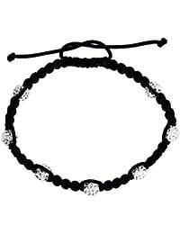 Bijoux pour tous CB1W - Pulsera de metal con cristal