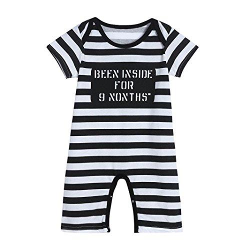 Culater® Infante appena nato bambino bambini delle ragazze dei ragazzi della banda della stampa pagliaccetto tuta Outfits Abbigliamento (0-6M)